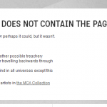 The MCA does a 404 error with style