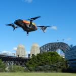 Parrot Drone buzzes Sydney Harbour Bridge